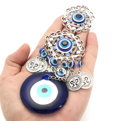 Neue türkische blaue böse Auge Hamsa Hand Elefant Amulett Wandschutz hängen