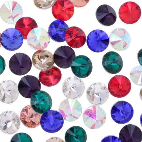8mm pointed back Glass Round Rhinestone Satellite stone wholesale 50pcs 101816