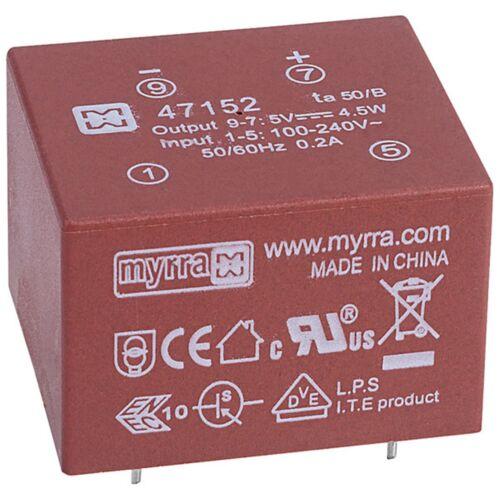 Myrra 47152 4.5W 5V AC-DC Power Supply Single Output