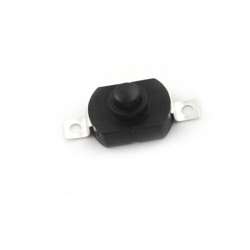10pcs 1712KD Black Flashlight Latching Push Button Switch DC 30V 1A   ZP