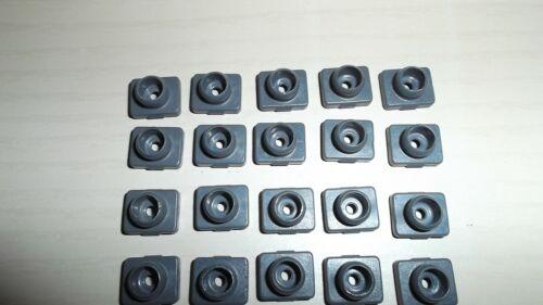 20 PLAYMOBIL sistema x SPINA CONNETTORE GRIGIO schraubschlüssel Casa Raccolta
