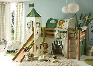 Kinderhochbett mit rutsche  Kinderhochbett Snoopy, Leiter + Rutsche, Kinderbett, Hochbett,Bett ...
