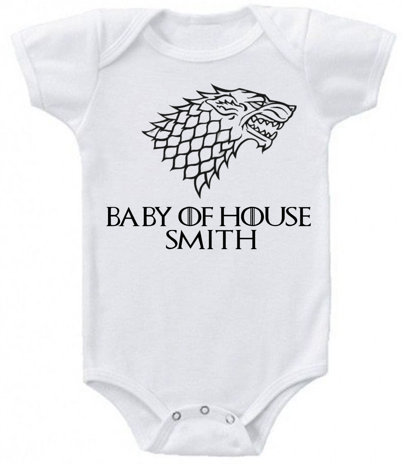 Funny Baby Grows Any Name Game of Thrones Inspired Personalised Baby Grow Gift