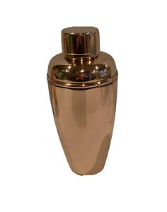 Crate Barrel Stainless Copper Finish Metal Cocktail Shaker New Ebay