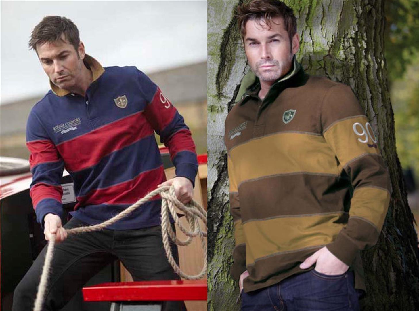 Descri Anderson Para  Hombre Algodón Camiseta De Rugby Tallas S-Xxl Mocha O navy mulled Vino  muchas sorpresas