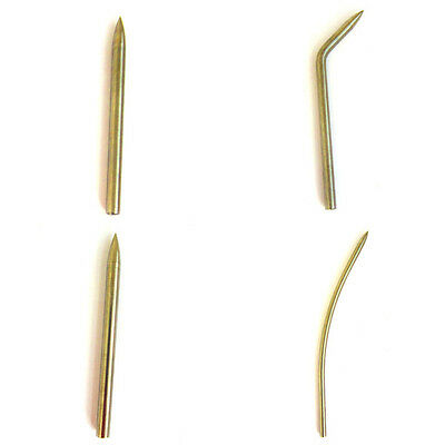 Aluminum Paracord Stitching Fid Lacing Needles (Straight, Curved, & 45 Degrees)