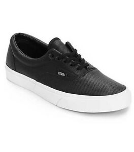382ae44628 NEW MEN S 11.5 VANS ERA PERF PERFORATED LEATHER BLACK SKATE SHOES