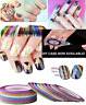 42 COLORS NAIL STICKER ROLLS STRIPING TAPE LINE NAIL ART UV GEL TIPS DIY KIT