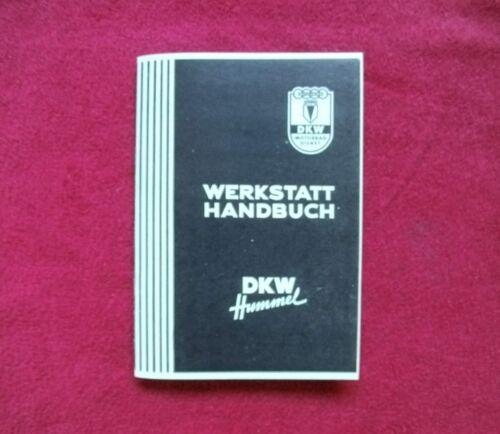 DKW-Hummel WERKSTATT HANDBUCH DKW Hummel Moped 3 Gang Handschalter