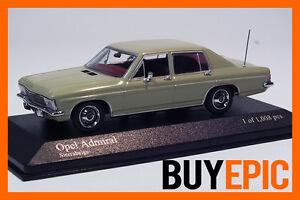 Minichamps-430046064-Opel-Admiral-B-1-43-Sierrabeige-limitiert-Modellauto-NEU