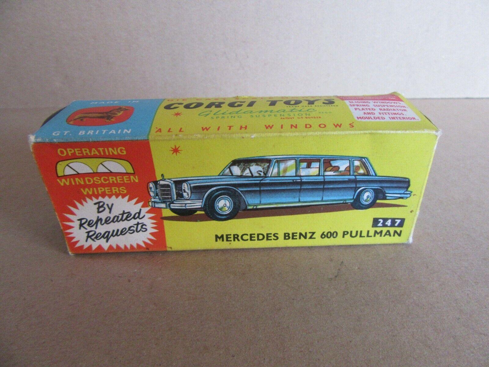 186I Vintage Corgi 247 Box Empty for Mercedes 600 Pullman