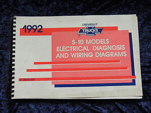 Image Is Loading 1992 GMC Chevrolet Truck S 10 Models Electrical