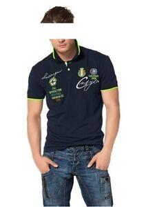Cipo-amp-Baxx-Camisa-Polo-Nuevo-S-XXXL-Hombre-Camiseta-azul-marino-c-amp-b-Ajustado