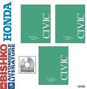 2001 2002 2003 2004 2005 honda civic shop service repair manual dvd rh ebay com honda civic 2004 service manual honda civic si 2002 service manual pdf