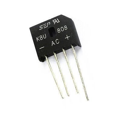 5 PCS KBU808 SIP-4 KBU-808 8A 800V Bridge Rectifier NEW