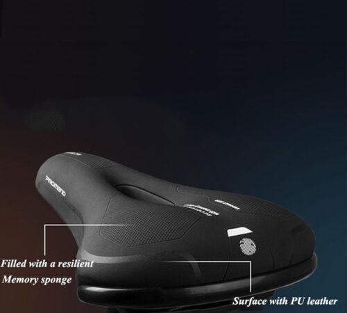 Promend Bicycle MTB Bike Seat Saddle Cushion Pad Thicken Wide PU EVA Foam Saddle