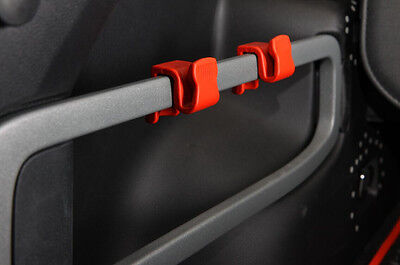Tail carriage hook 2pcs for Jeep Cherokee 2014 2015 2016 Red