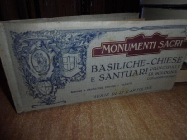 (bologna Cartoline)monumenti Sacri Basiliche-chiese E Santuari Principali...1927