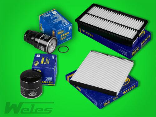 SERVICEPAKET MAZDA 6 GG 2,0 DI Luftfilter Ölfilter Pollenfilter Dieselfilter