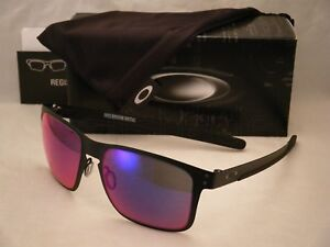 132f8df497 Oakley Holbrook Metal Matte Black w +Red Iridium Lens NEW sunglasses ...