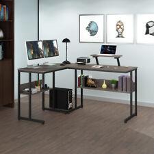 L Shaped Desk Reversible Desktop Corner Computer Gaming Laptop Table Office Desk