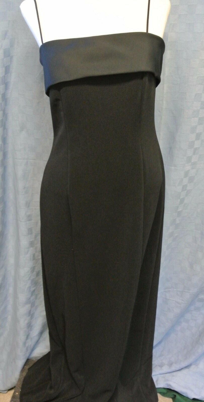 ALEX EVENINGS SPAGHETTI FORMAL Evening Party Dress Gown MAXI Size 4 chest 32
