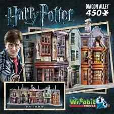 WREBBIT 3D JIGSAW PUZZLE HARRY POTTER HOGWARTS DIAGON ALLEY 450 PC  #W3D-1010