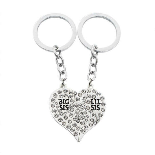 2pcs paired keychains best friends coffee Cup heart key puzzles gift for lovers