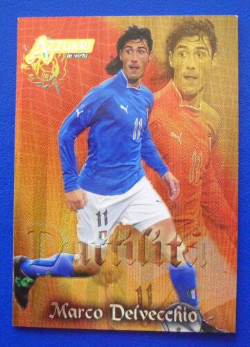 N AZZURRI TRADING CARDS PANINI 2004 ITALIA 63 DELVECCHIO LE VIRTU/'