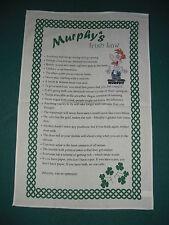 IRELAND MURPHY'S IRISH LAW TEA TOWEL WITH SHAMROCK
