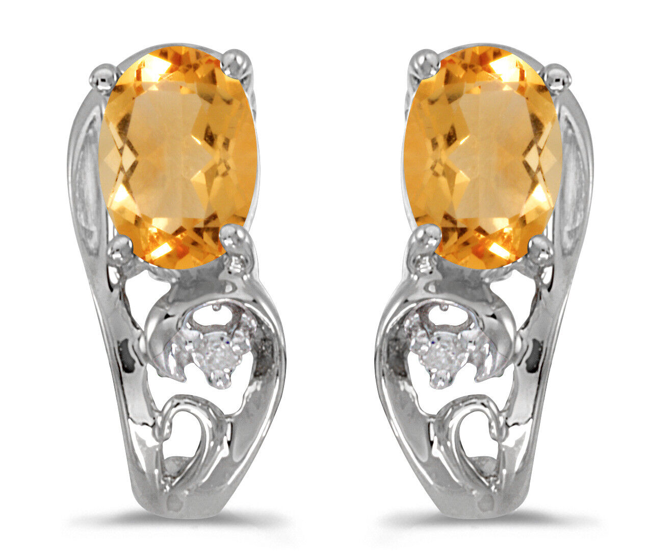2a44f6d27366f And Citrine Oval White 10k Diamond gold Earrings gepxc04c74895 ...