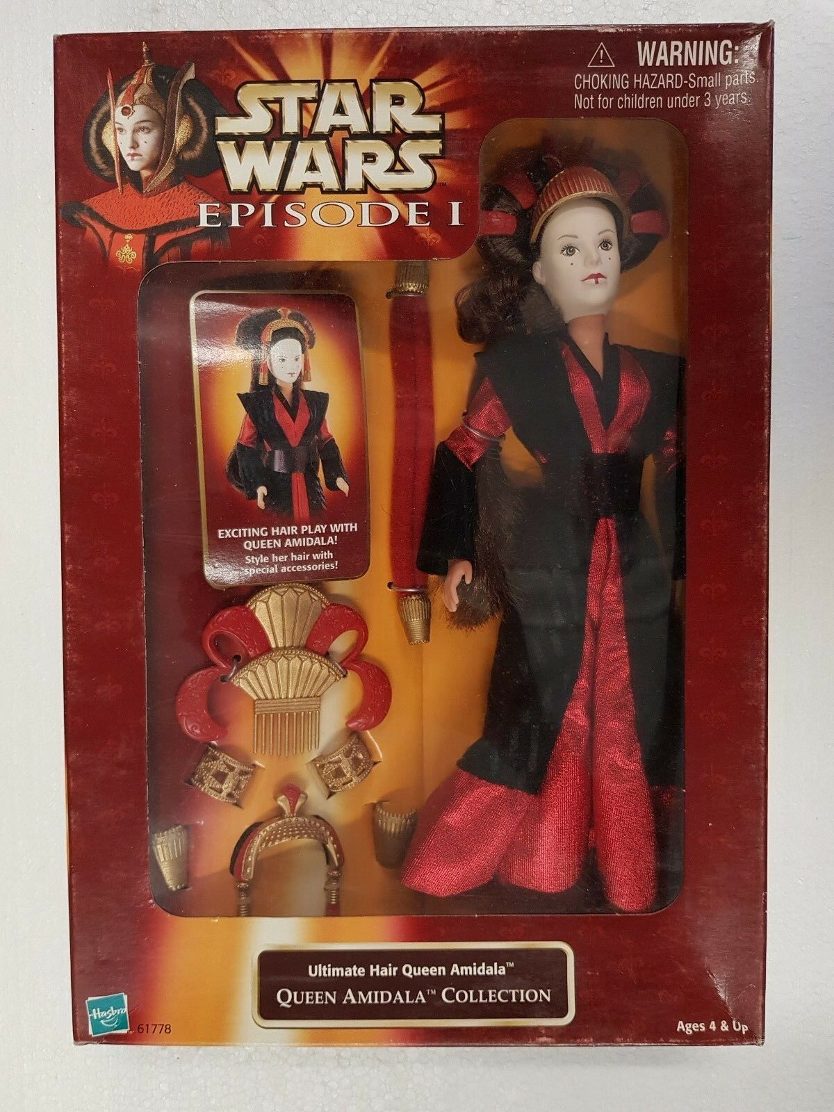 ACTION FIGURE STAR WARS EPISODE ONE   ULTIMATE HAIR QUEEN AMIDALA (O)