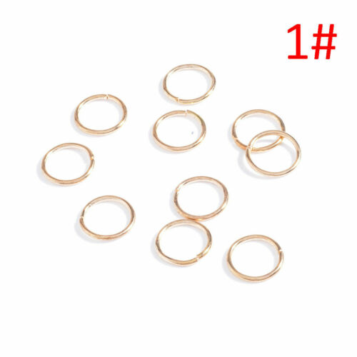 50pcs Hip-Hop Braid Gold Silver Ring Hair Clip Pin Clips Hair Accessory COOL Gif