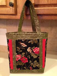 Wintergreen Purse Handbag - Rose Tote Bag KIT // Moda Fabric