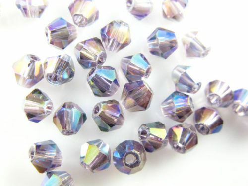 4mm 100-1000Pcs Glass Crystal Faceted Bicone Beads 4mm Craft Spacer Jewelry Gift