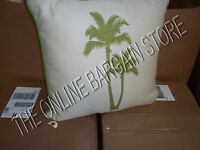 1 Frontgate Outdoor Yard Patio Pool Throw Pillow Palm Tree Artisan Gingko Green
