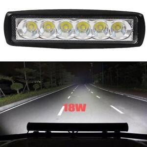 18W 800LM Spot 6 LED Bright Light Work Bar Driving Fog Offroad Car Lamp Fr Truck