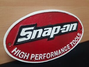 ** SNAP ON TOOLS ** VINTAGE STYLE CAST IRON SIGN GARAGE MECHANIC MAN CAVE