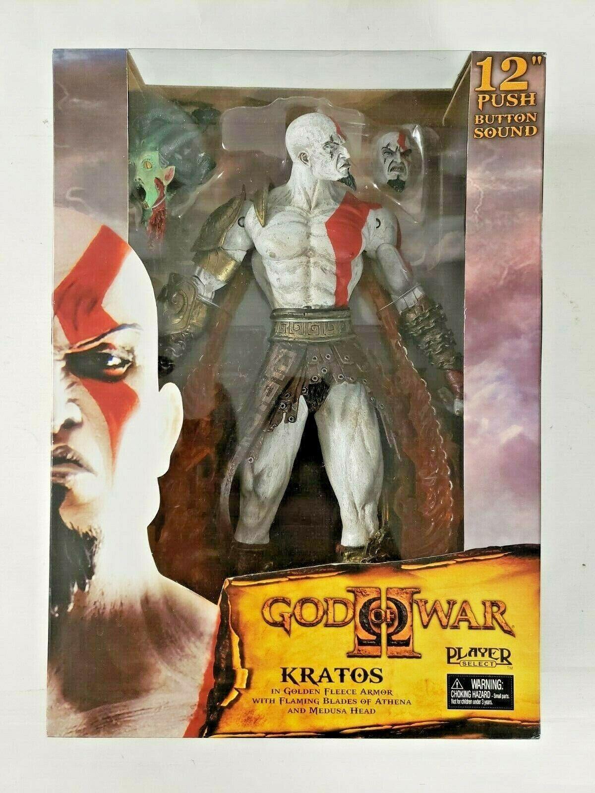 Dios De La Guerra Ii 12' Kratos en oroen Fleece armadura Neca jugador Seleccionar Nuevo Sellado