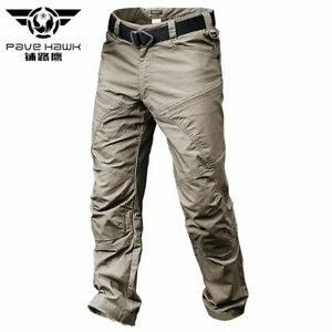 Verano Impermeable Pantalones Tacticos Macho Correr Informales Para Hombres Pantalones Cargo Algodon Ebay