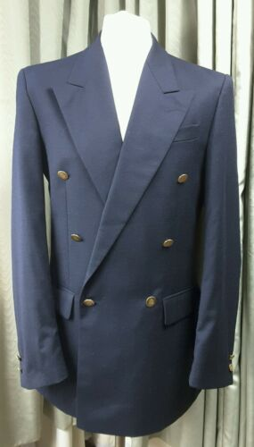 By Breasted 100 Vgc Wool Blazer Canda 38l Gold Double Buttons A6TTg