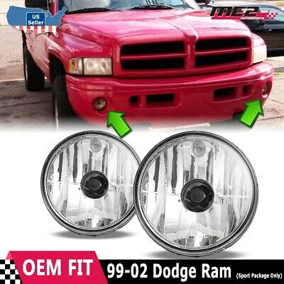 For Dodge RAM 99-02 Clear Lens Pair Bumper Fog Light Lamp OE Replacement DOT