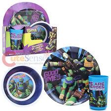 TMNT Teenage Mutant Ninja Turtles 3pc Kids Dining Plate Bowl Cup Dinnerware
