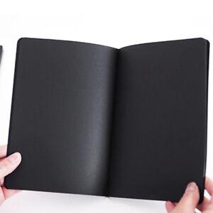 56K-Soft-Cover-Art-Notebook-Sketch-Book-Black-Paper-Kraft-Sketching-Paper-Diary