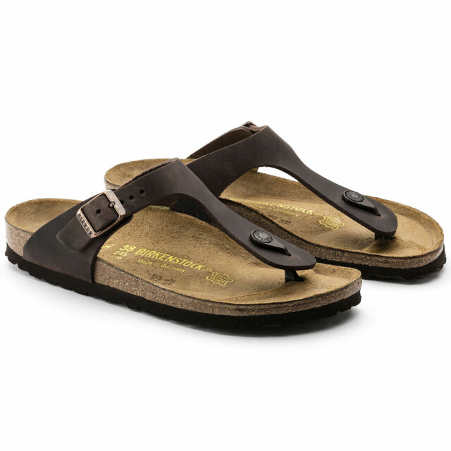 398219e6881f Birkenstock Gizeh 743831 Size 39 L8m6 R Habana Oiled Leather Thong ...