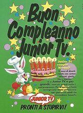 X0899 Buon Compleanno JUNIOR TV - Pubblicità del 1995 - Vintage advertising
