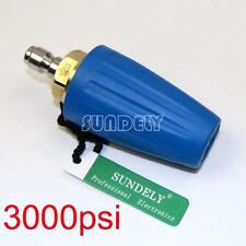 """1/4"""" Quick Connect High Pressure Washer Cleaner Spray Turbo Nozzle Tip 3000PSI"""