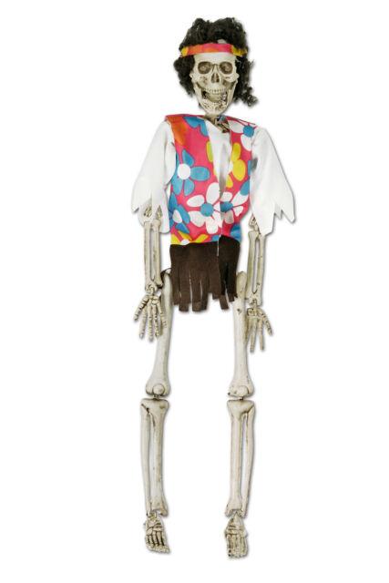 Kor Halloween Deko Skelett Zombie Hippie 45x11cm Grusel Figur Gunstig Kaufen Ebay