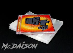 McDAISON-100-BUSTE-CD-DVD-per-custodie-JEWEL-CASE-RICHIUDIBILI-fascetta-adesiva