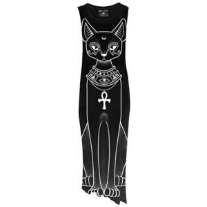 en raphia 217 3156 Kitty Chat Gothique longue Top Occulte Chat Killstar Robe qERPwaPt